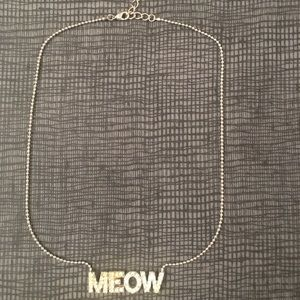 MEOW rhinestone necklace